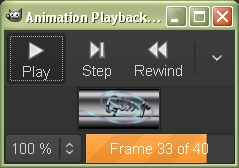 Playback of Animation filter.